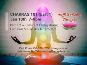 Chakras101 Part1 of 2 (Basics of Energy Healing Series 1 of 4) - Buffalo Healing Therapies